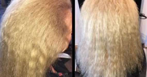 Nanokeratin Hair Smoothing Treatment Before